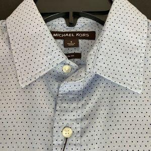 Micheal Kors Mens Blue Ice Dress Shirt Small